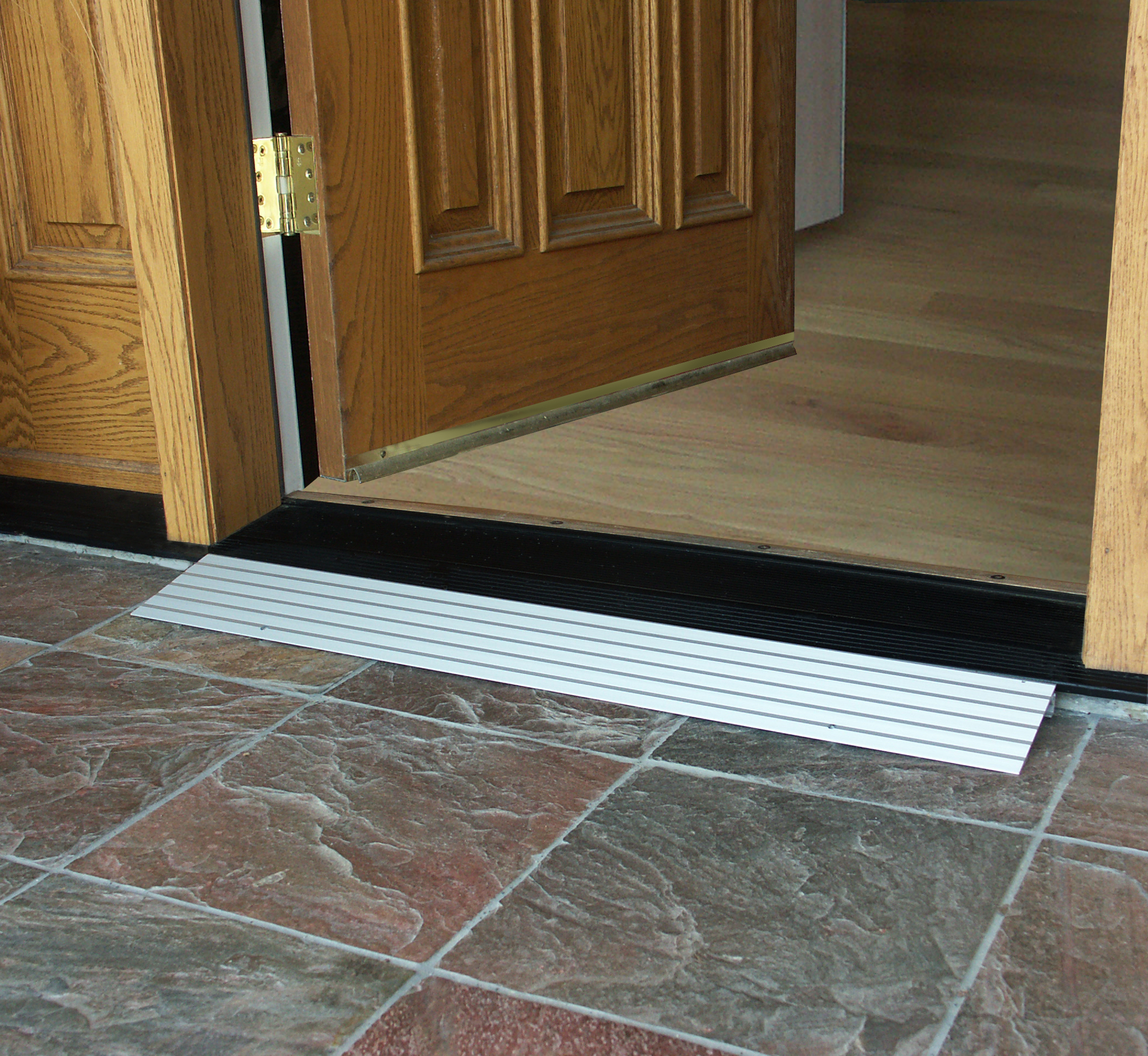 Zero step entry and ez access threshold ramps wheelchair for Door threshold